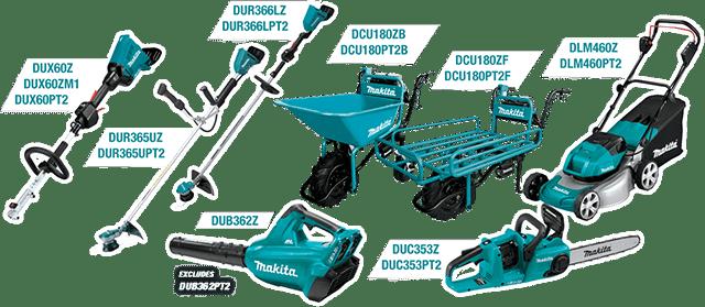 Eligible tools: DUX60Z, DUR365UZ, DUR366LZ, DUB362Z, DCU180Z, DUC353Z, & DLM460Z