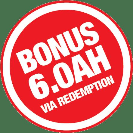 Bonus 6.0Ah