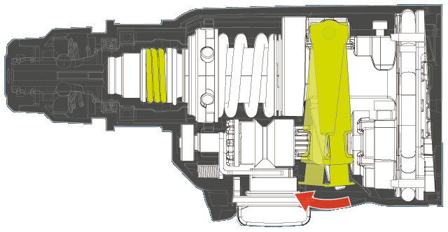 cross section diagram of counterweight mechanism