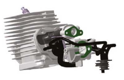 illustration of 2 stroke engine