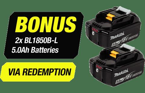 Bonus 2x BL1850B