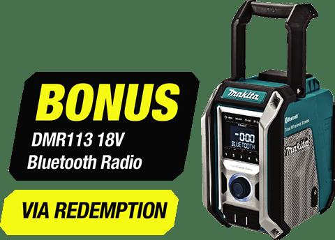 Bonus DMR113 18V LXT / 12V CXT / AC Bluetooth Job Site Radio