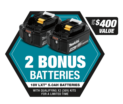 2 BONUS batteries