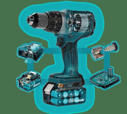 Drill cutaway