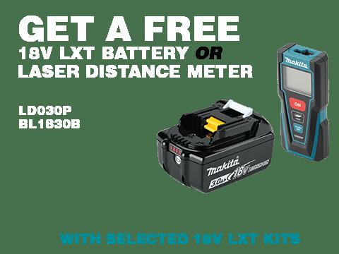FREE 18V LXT Battery or Laser Distance Meter