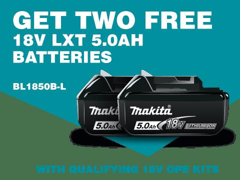 FREE 2 x 18V LXT Batteries
