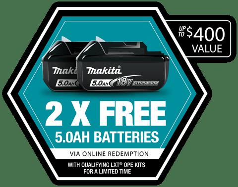 2 BONUS batteries
