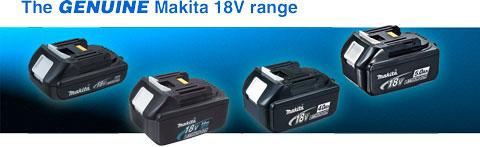 The Genuine Makita 18V Range